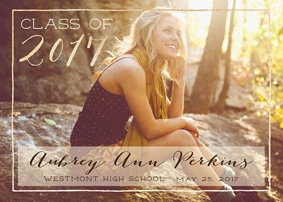 graduation announcements - Golden Sparkle Frame by Allison Kizer