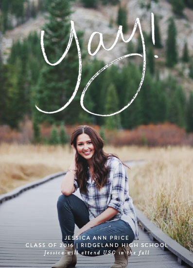 graduation announcements - Yay for the Graduate by Amy Payne
