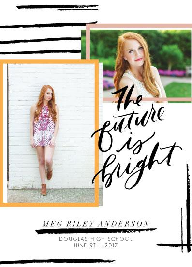 graduation announcements - Bright Future Bright Colors by Julia Mattox