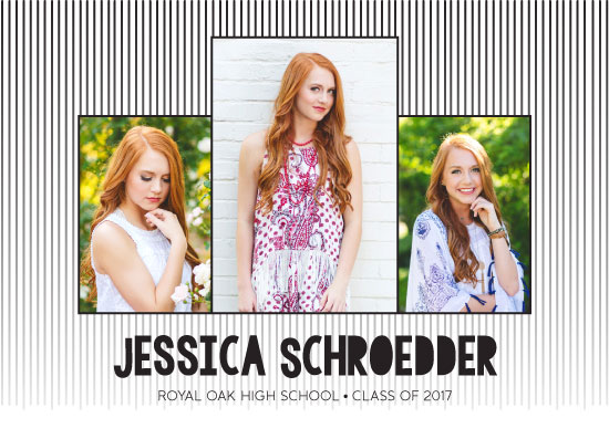 graduation announcements - Faded Lines by The Paper Proposal