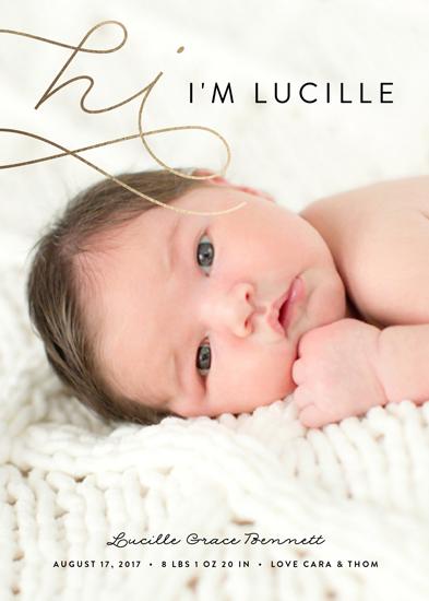 birth announcements - Hi by Erica Krystek