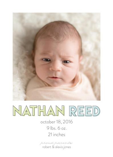 birth announcements - Offset by Lauren Gerig