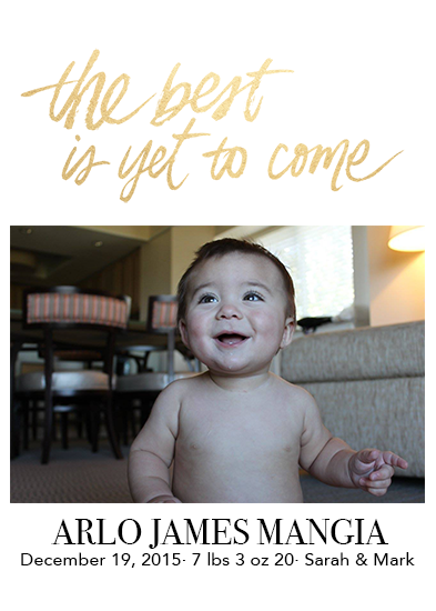 birth announcements - The Best is Yet to Come by Heidi Liou