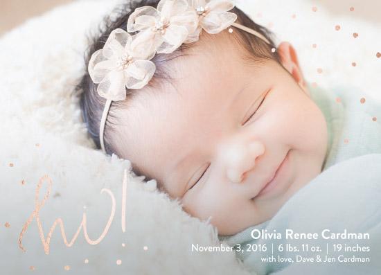 birth announcements - golden hi by Lauren Gerig