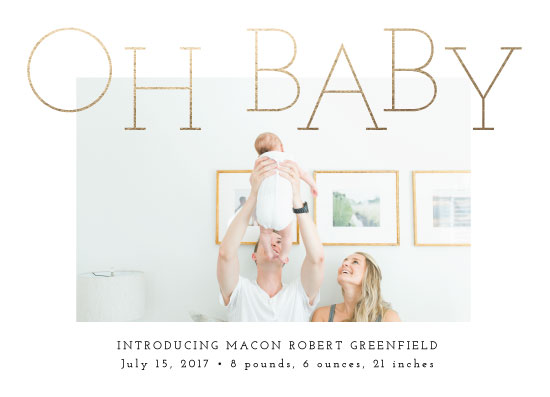 birth announcements - Oh Baby by Pink House Press