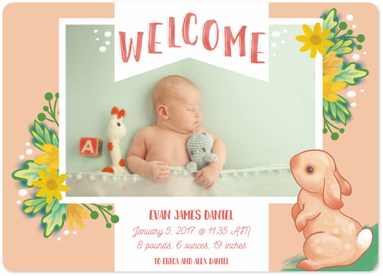 birth announcements - Springtime Arrival by Rachel Lang