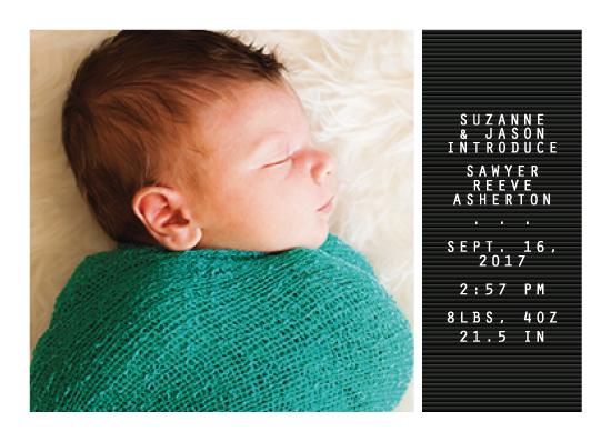 birth announcements - Letter board by Lea Delaveris