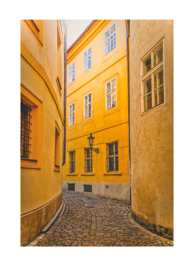 art prints - Golden Streets of Prague by Mel P