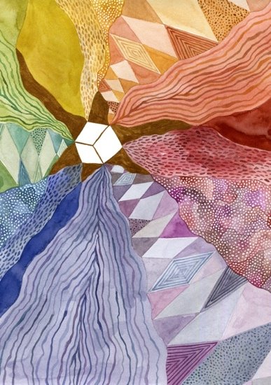 art prints - radiating rainbow by Kelly Place