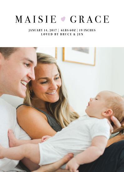 birth announcements - Little Heart by Jenn Wheat