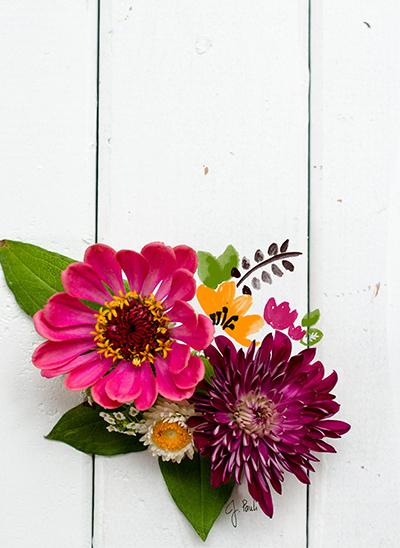 art prints - Painted Flowers by Jill Pauli