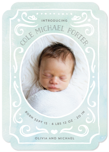 birth announcements - Ornate Frame by JeAnna Casper