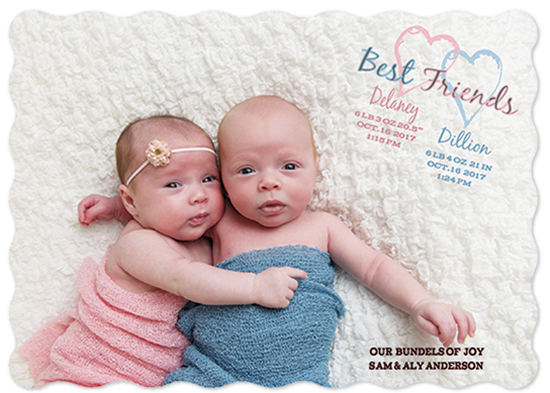 birth announcements - Best Friends by Esther Lane