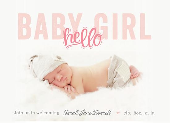 birth announcements - Hello Baby Girl by alisa brainard