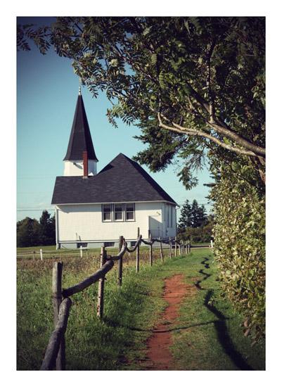 art prints - Short Cut to Church by Gray Star Design