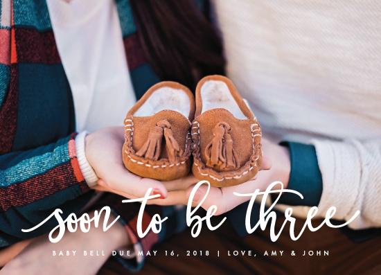 birth announcements - Soon to be Three by Ashley Rosenbaum