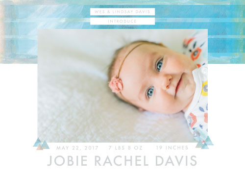 birth announcements - Our One and Only by Lindsay Davis
