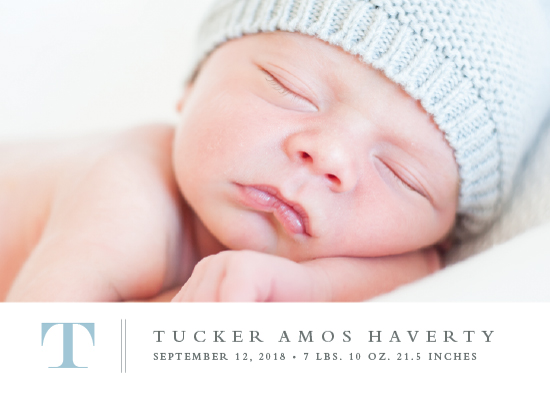 birth announcements - Stately monogram by Stacey Meacham