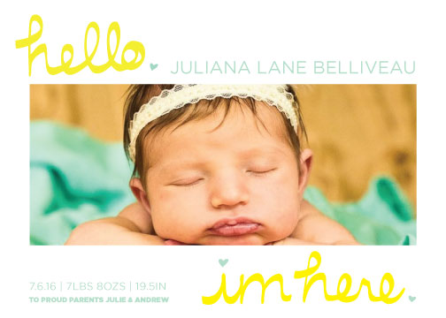 birth announcements - Hello. Im Here. by Ashley McCallister