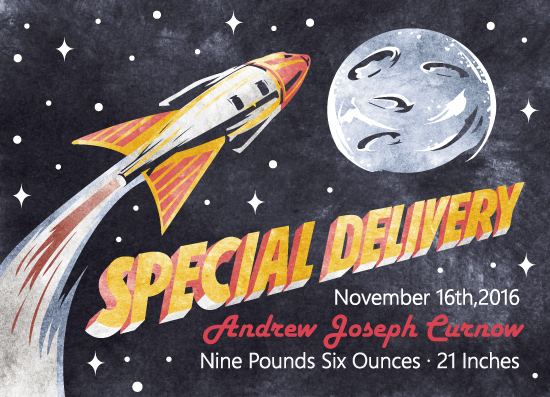 birth announcements - Rocket - Special Delivery by Zach Gomez