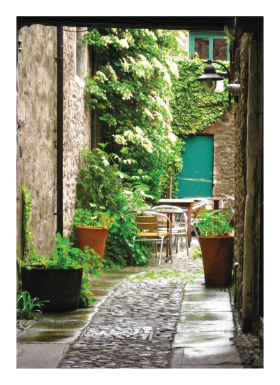 art prints - English Courtyard by esther designs