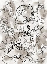 Gestural Cats by Kayvee Creative