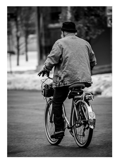 art prints - Elderly Bicycle by Christopher Deau