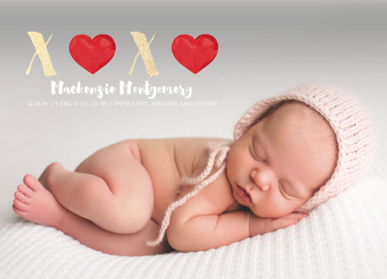 birth announcements - XOXO Hearts by Estefanie Tawoy