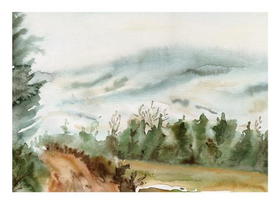art prints - A Winter Walk by Eva Marion