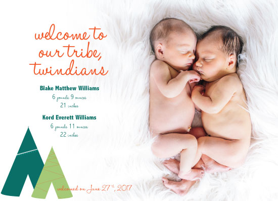 birth announcements - Twindians by Landan Rivers