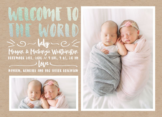 birth announcements - Welcome With Love by Estefanie Tawoy