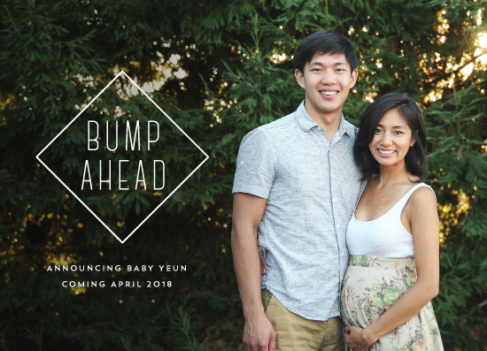 birth announcements - Bump Ahead by Pink House Press