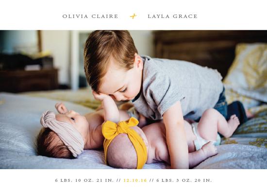 birth announcements - addition by Faith Dorn