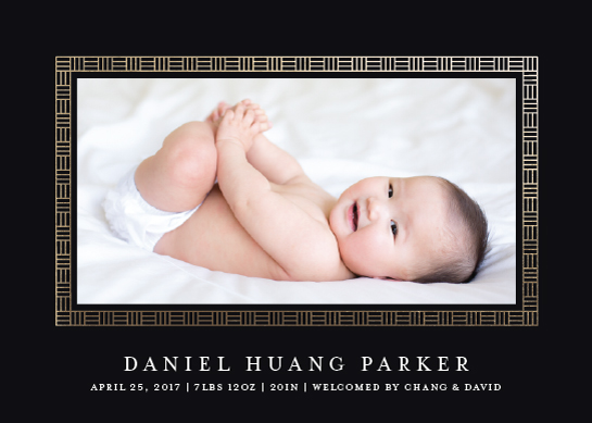 birth announcements - Asian Flair by Melissa Casey