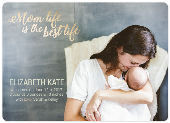 birth announcements - Mom Life by Landan Rivers