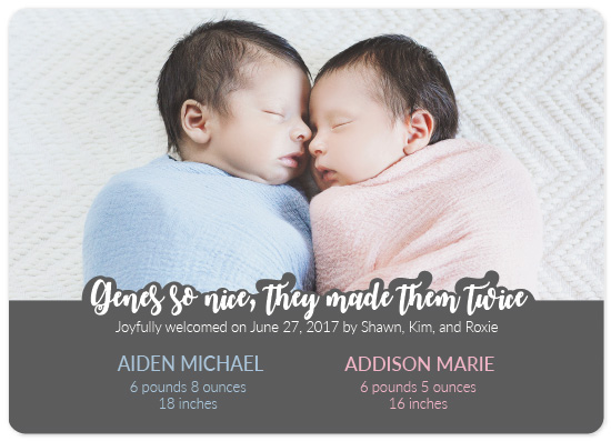 birth announcements - Nice Genes by Landan Rivers