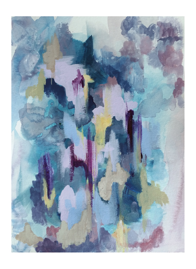 art prints - Lilac Ikat by Lisa Fay Vongerichten