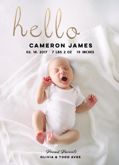 birth announcements - Hello To The World by Janelle Williams