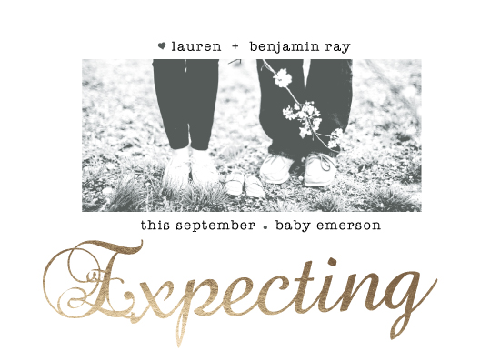 birth announcements - Family Of Three Soon To Be by Janelle Williams