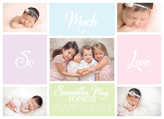 birth announcements - So Much Love Baby Announcement by Jamie Kennedy