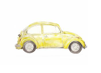 Yellow Vintage Bug