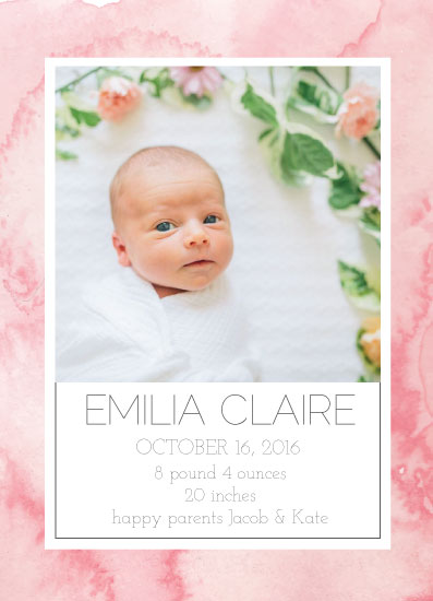 birth announcements - Baby Watercolor Wash by Anna Liisa Moss