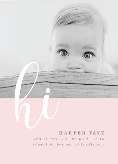 birth announcements - Glee by Ana Sharpe
