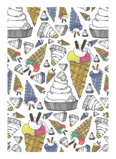 art prints - Ice cream by Kristina Me
