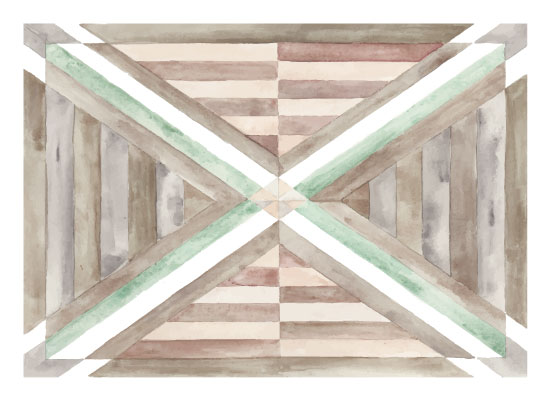 art prints - Watercolor Woodwork by Anna Liisa Moss