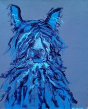 Llama Mama in Blue by Susannah Raine-Haddad