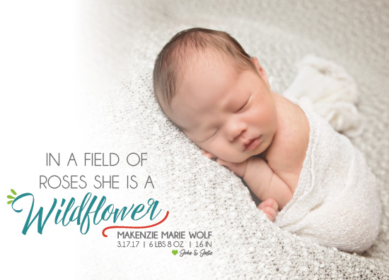 birth announcements - Wildflower by Landan Rivers