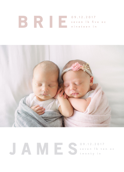 birth announcements - bonded by Angela Garrick