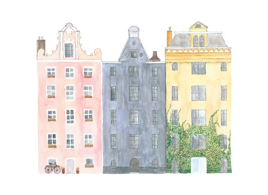 art prints - Amsterdam Houses by Anna Liisa Moss
