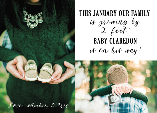 birth announcements - Growing By Two Feet by Janelle Williams